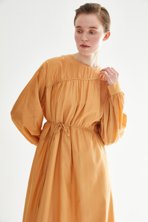 TIE LINED DRESS - Thumbnail